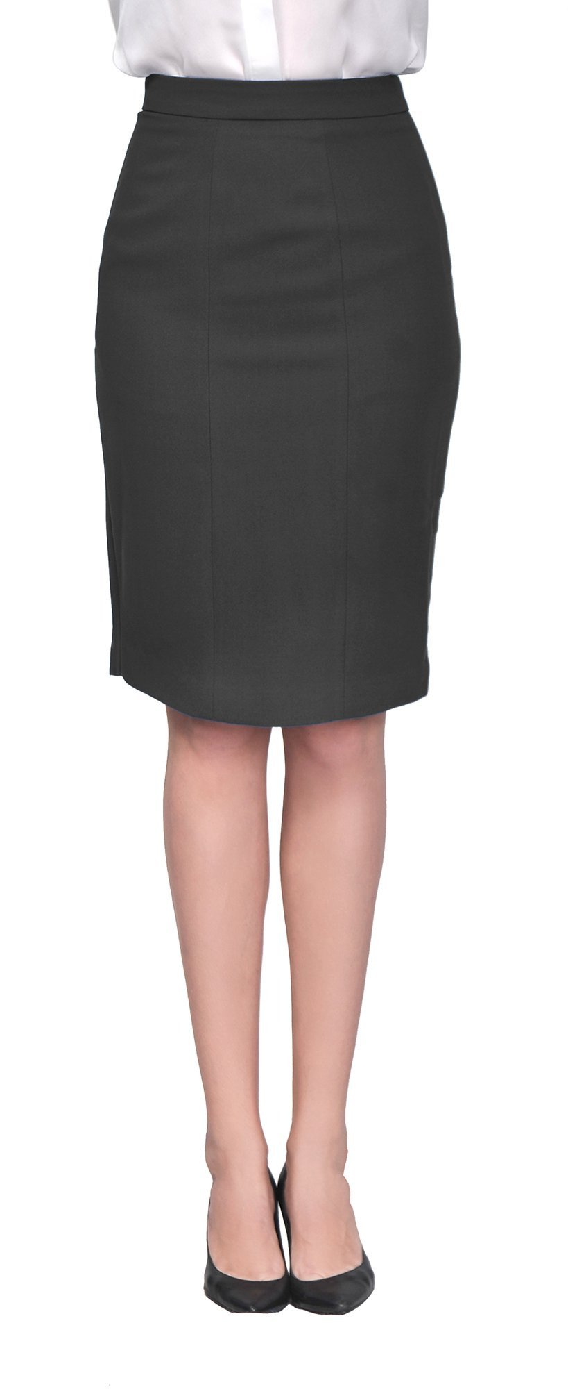 Marycrafts Women's Lined Pencil Skirt 4 Work Business Office 2 black