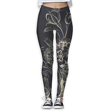 Health Fitness Power Flex Yoga Pants for Women Workout Leggings High Waist  Flare - Luxury Flower at Amazon Women s Clothing store  45fcd959e21d