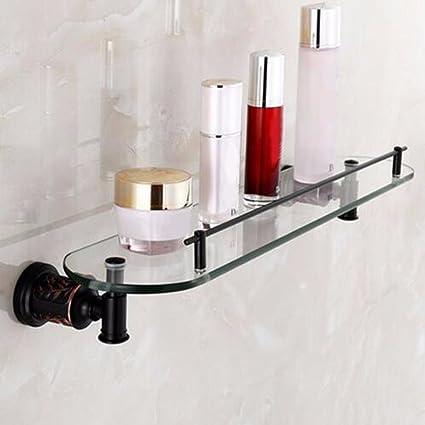 Sursy Negro de estilo europeo de cosméticos, estante de pared para colgar en la pared