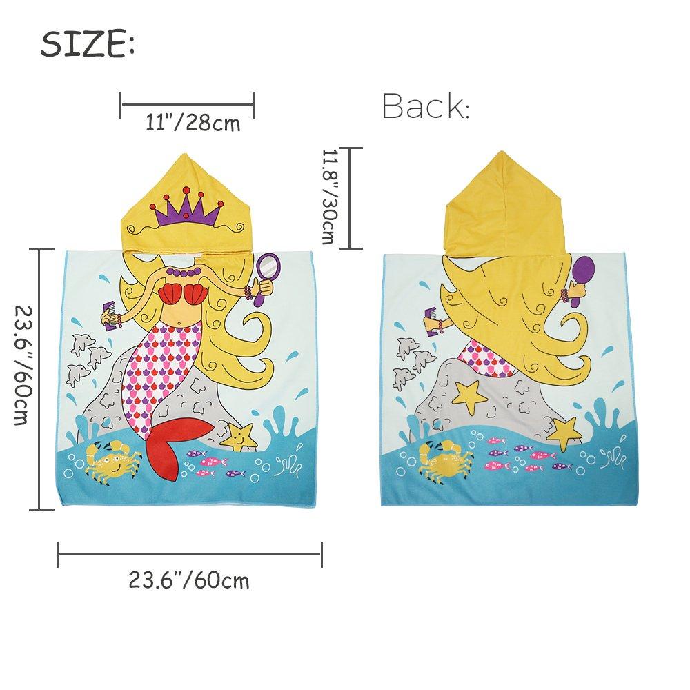 Xplanet Toddler Beach Bath Towel, Multi-use for Hooded Poncho Swim Beach Pool Poncho Bath Towel, Home Bath Robe for Kids Child 2-7 Years Boy&Girls by Xplanet (Image #5)
