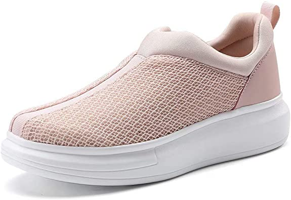 COOJOY Zapatillas para Mujer Plataforma Slip On Casual Sneakers Zapatillas de Correr Gimnasio Shoes Fitness: Amazon.es: Zapatos y complementos