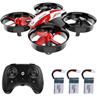 Holy Stone HS210 Mini Quadcopter Drone for Kids and Beginners RC Helicopter Plane with Auto Hovering, 3D Flip, Headless Mode and Extra Batteries Toys for Boys and Girls, red