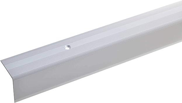 acerto 38054 Perfil angular de escalera de aluminio - 100cm 32x30mm plateado * Antideslizante * Robusto * Fácil instalación | Perfil de borde de escalera perfil de peldaño de escalera: Amazon.es: Bricolaje y herramientas
