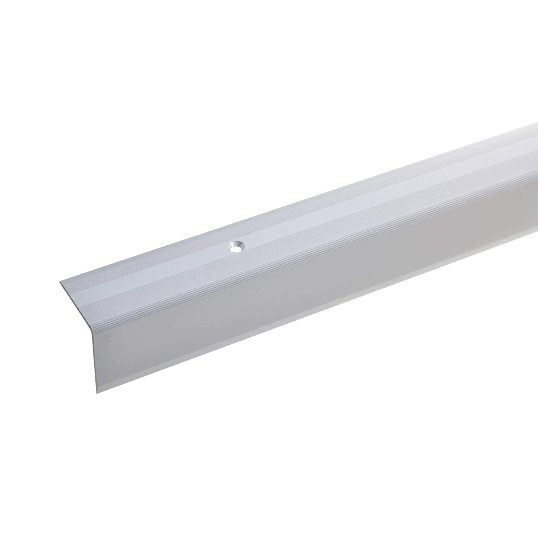 135cm Profil dar/ête descalier profil de marche en aluminium acerto 51051 Profil dangle descalier en aluminium 32x30mm bronze clair * Antid/érapant * Robuste * Montage facile