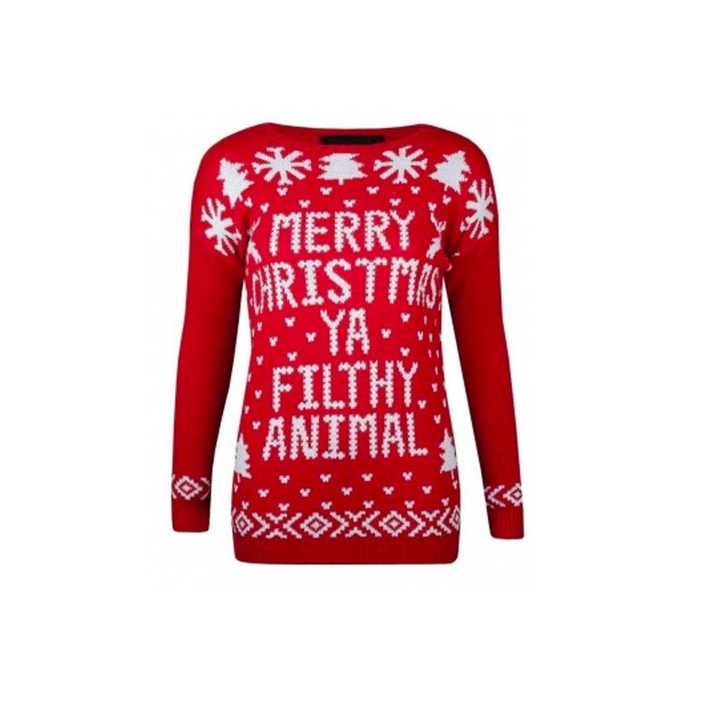 Xmas Women Jumpers Ya Filthy Animal Ladies Sweater Christmas Novelty Pullover Amazon.com