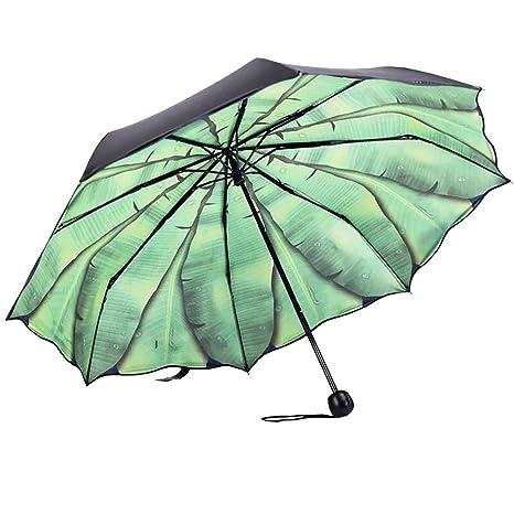 Paraguas Plegable Antiviento Parasol Con Diseño De Hijas Musáceas Elegible Por Dentro O Por Fuera (