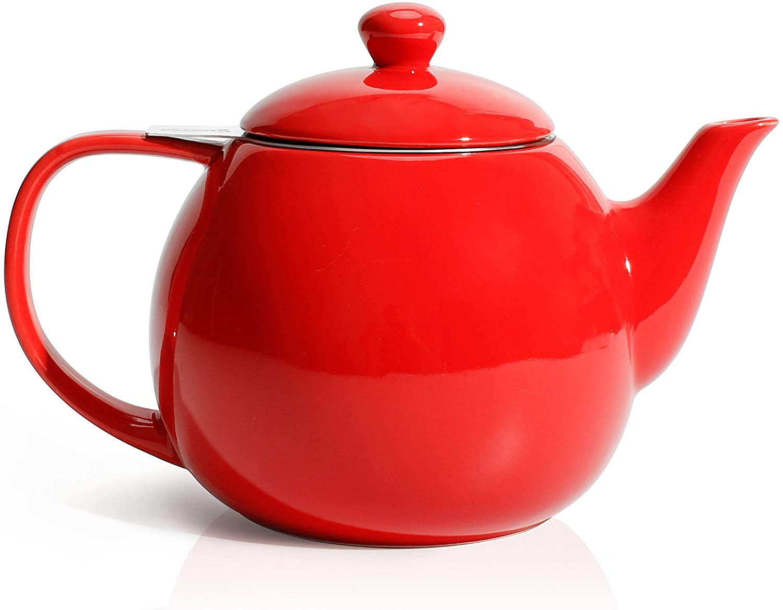 Vintage Ceramic Scalloped Edge Decorative Small Tea Pot