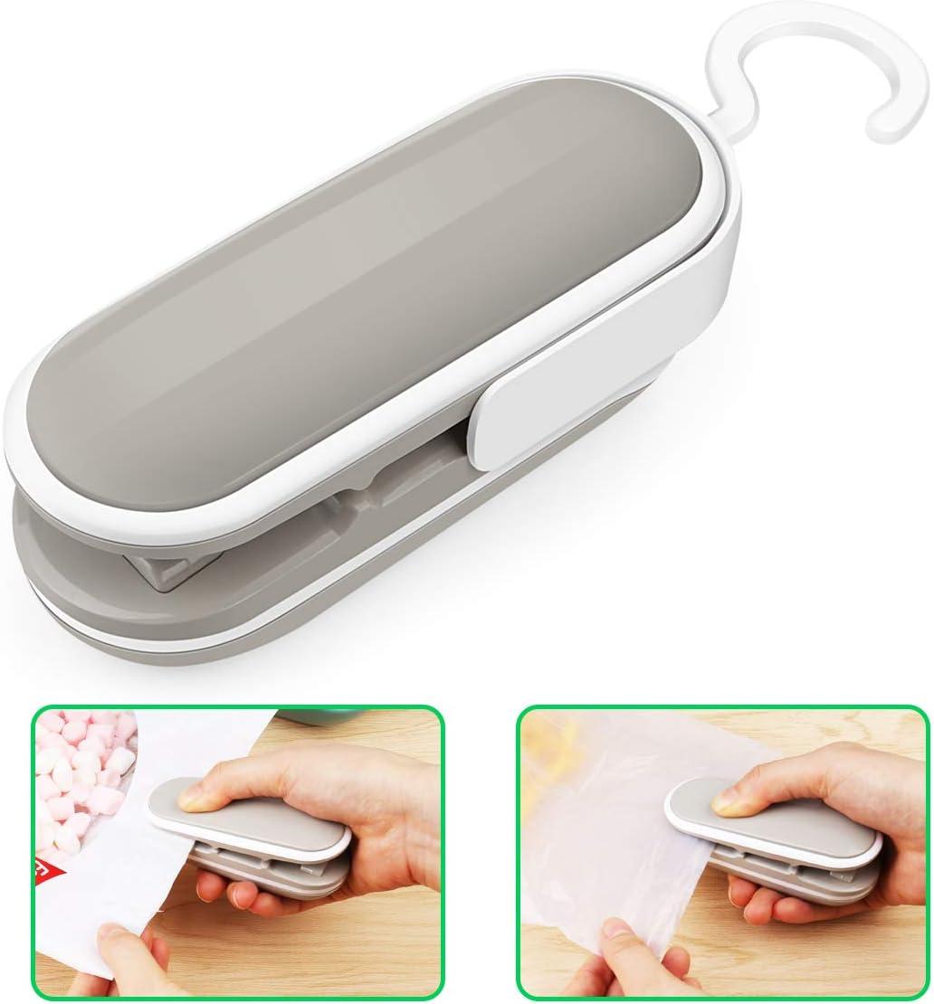 Mini Bag Sealer, Handheld Heat Vacuum Sealers, Bag Sealer Heat Seal, 2 in 1 Heat Sealer and Cutter Handheld Portable Bag Sealer