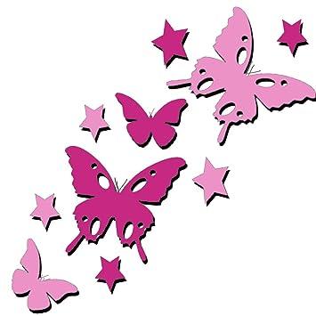 tjapalo® 2B3s (rosa/pink) viele Farben set bunte Schmetterlinge und ...