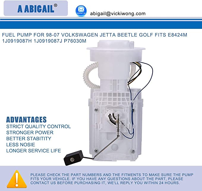Premium Quality Fuel Pump Assembly for Volkswagen Beetle 2.0 06//02-07//03