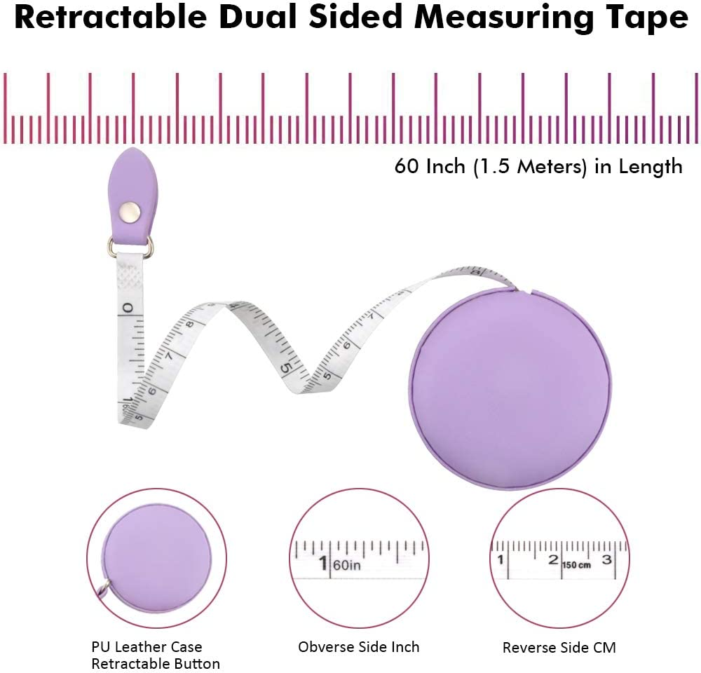 Tape Measure for Body Sewing Fabric Tailor Cloth Craft Medical Measurement Tape,60 Inch//1.5M Dual Sided Sewing Measure Tape Set Edtape 2PCS Measuring Tape for Body