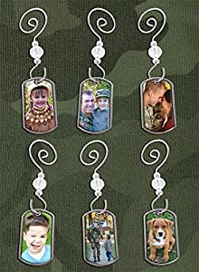 Make Your Own Dog Tags Military Photo Christmas Ornaments Kit Makes 6