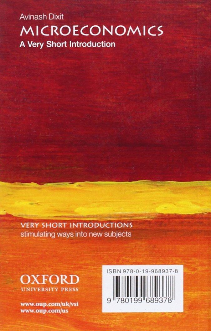 Microeconomics: A Very Short Introduction Very Short Introductions: Amazon.es: Dixit, Avinash: Libros en idiomas extranjeros