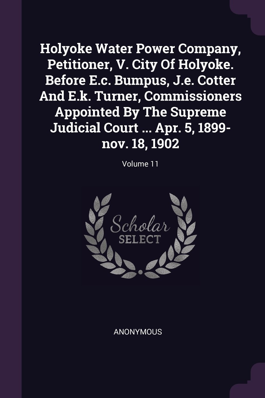 Download Holyoke Water Power Company, Petitioner, V. City Of Holyoke. Before E.c. Bumpus, J.e. Cotter And E.k. Turner, Commissioners Appointed By The Supreme ... ... Apr. 5, 1899-nov. 18, 1902; Volume 11 pdf epub