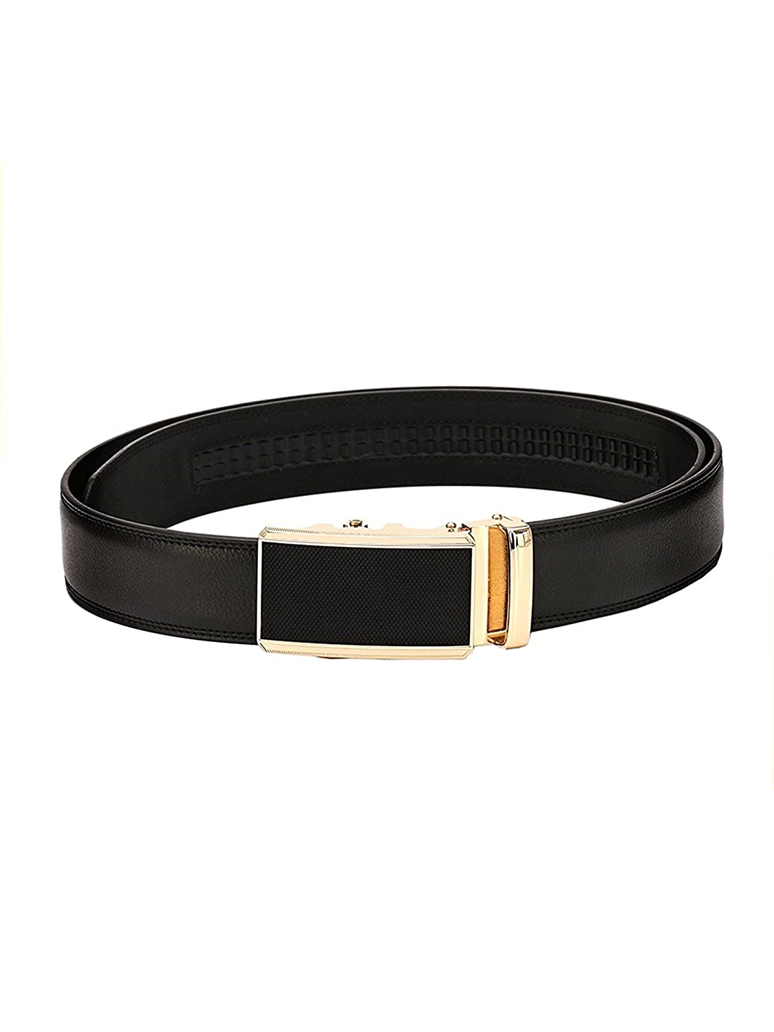 Pacific Gold Automatic Autolock Buckle Genuine Leather Formal Casual Belts For Men Boys