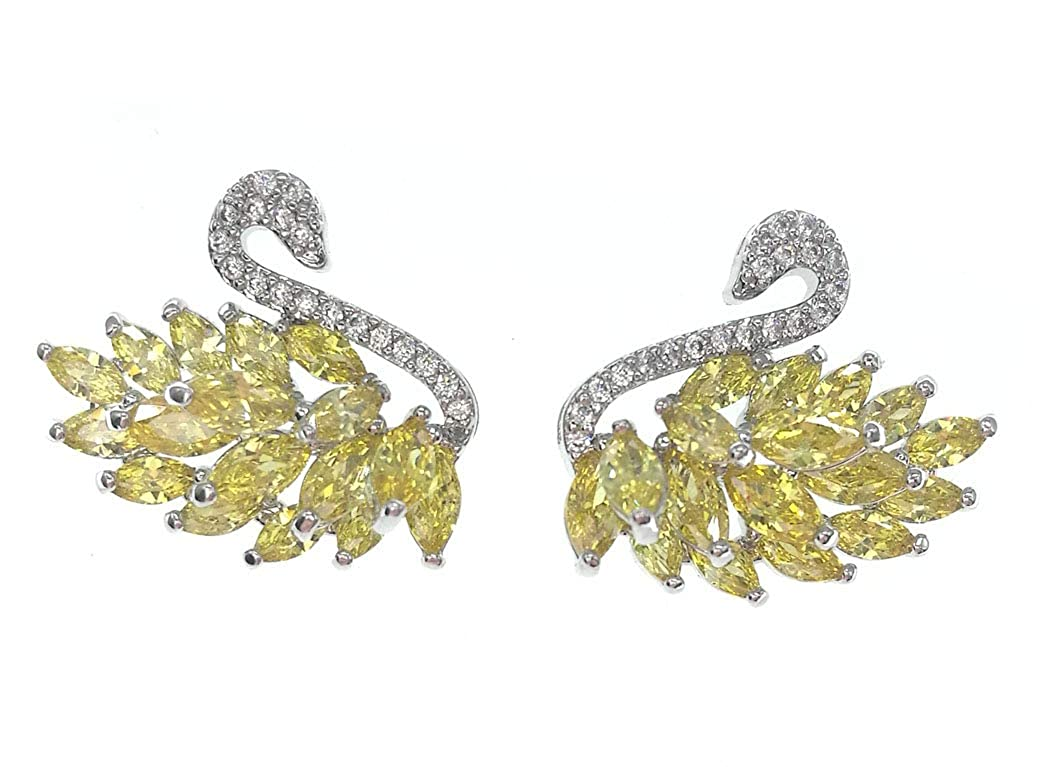 AZfasci 925 Silver Needle Flamingo Flower Pearl Stud Earrings Women Girls Zircon Birthday Gift A8