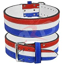 "ARD CHAMPS Leather Power Heavy Duty Weight Lifting Belt with Steel Buckle- 4"" Wide"