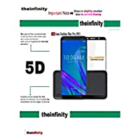 Superdealsfortheinfinity® 5D Edge to Edge Tempered Glass Screen Protector for Asus Zenfone Max Pro M1 (Black)