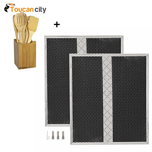 - NuTone Non-ducted Replacement Charcoal Filter (XD Type) (2 per Pack) S97020467 and Toucan City Bamboo Cooking Utensil Set (7-Piece)