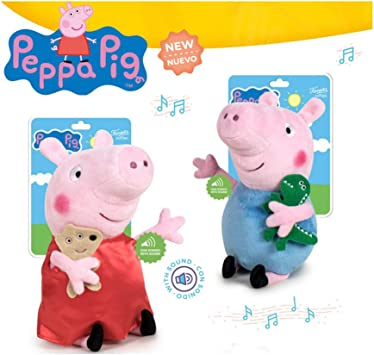 Playbyplay Pack Peluches Peppa Pig Y George con Sonido 25 CM ...