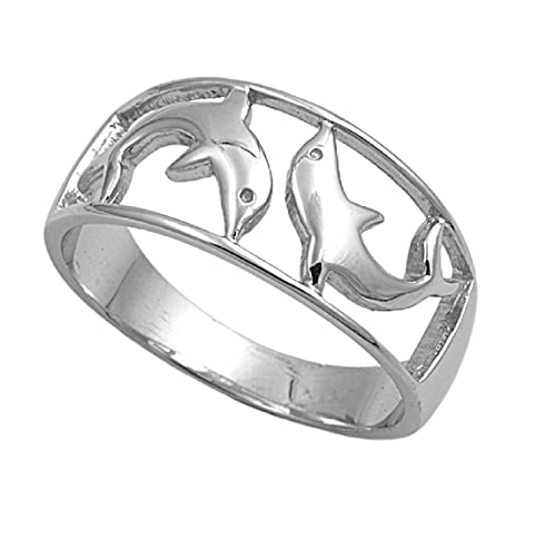 Princess Kylie 925 Sterling Silver Twin Design Fashion Ring