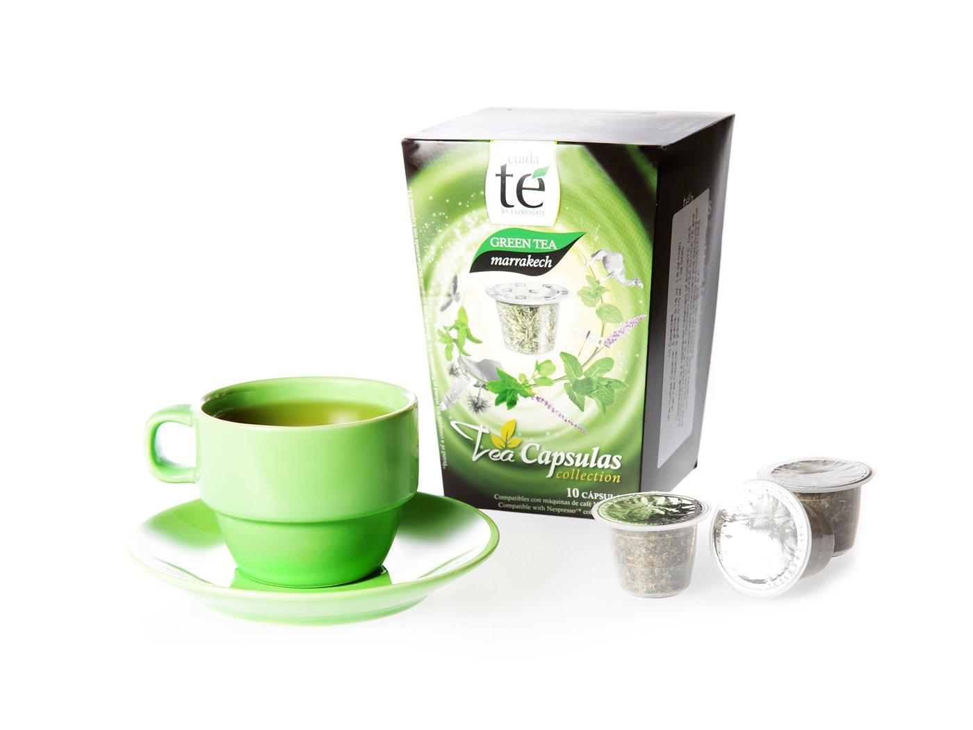 20 Nespresso Compatible Tea Pods - Marrakech Green Tea, 2 Boxes - 10 Pods / Box: Amazon.com: Grocery & Gourmet Food