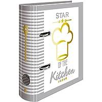 HERMA 15416raccoglitore per ricette ricettario zum selberschreiben, DIN A5, in cartoncino robusto, con oro fogli rilievo e 5pezzi Register, 70mm di larghezza, 1Cartelle