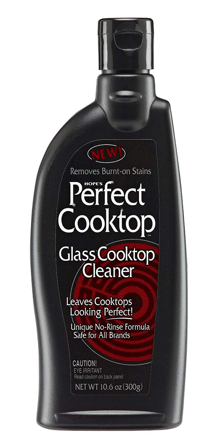 HOPE'S Perfect Cooktop Cleaner, 10.6-Ounce, Glass Cooktop Cleaning Spray, Removes Stains, No-Rinse Formula, Fast-Acting, Pack of 2