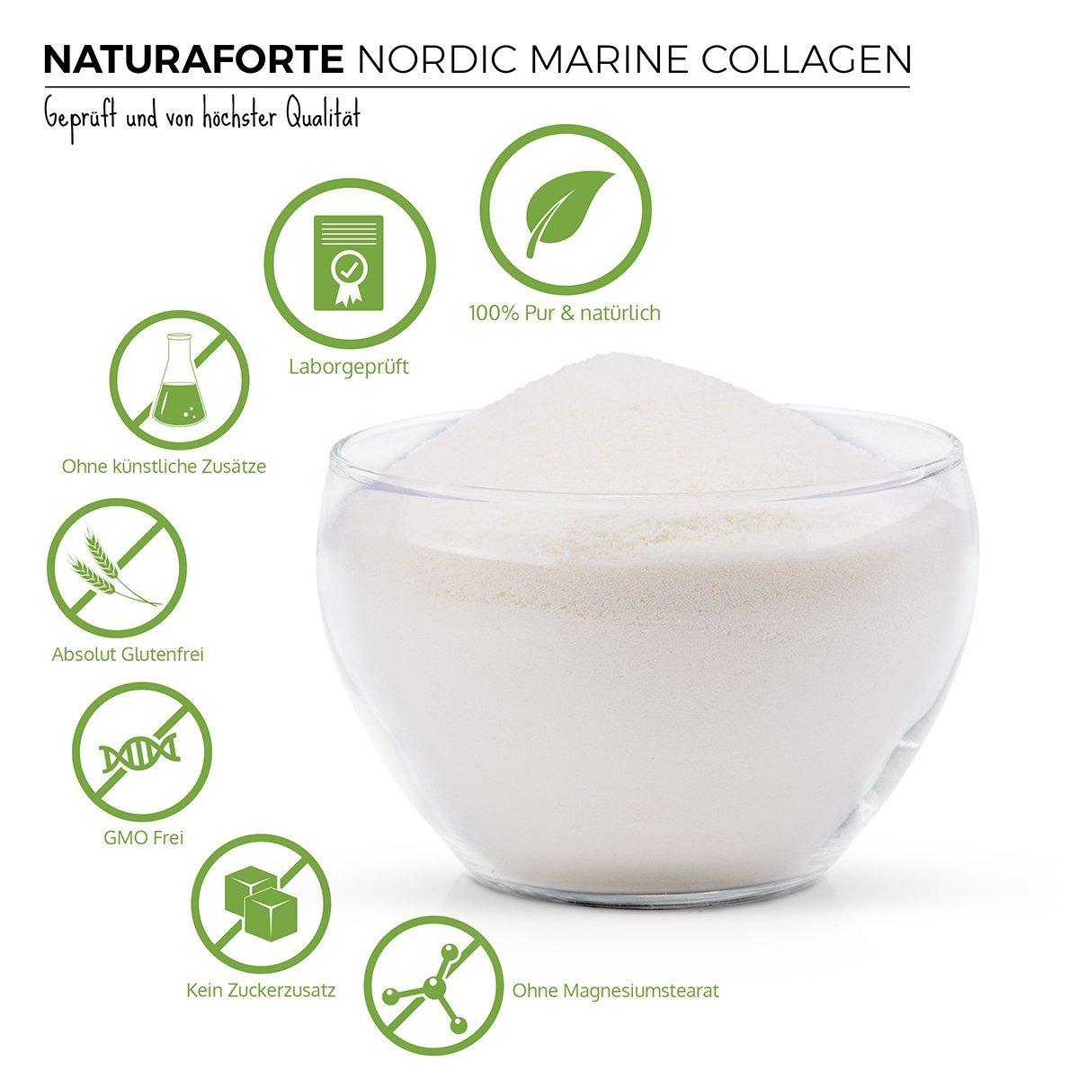 Colágeno Marino Hidrolizado (300g) - Natural, Sin Azúcar, Sin Grasa, Sin Cholesterol ✓ Ayuda a Reducir los Signos de Envejecimiento | NaturaForte: ...