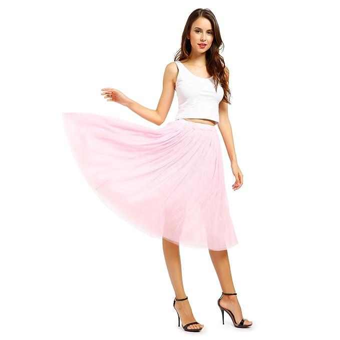 MABOOBIE - Falda - empire - para mujer rosa Rose: Amazon.es: Ropa ...
