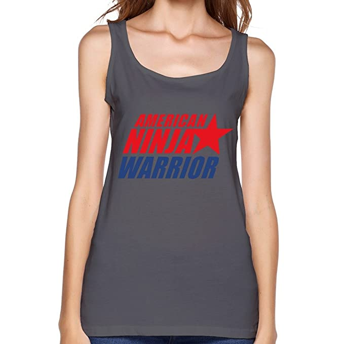 JiJa Lady American Ninja Warrior Tank DeepHeather S at ...