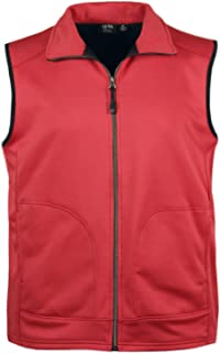 product image for Akwa Made in USA Men's Full Zip Soft Shell Vest Wind and Water Resistant Bonded Poly Fleece with 2 Side Pockets