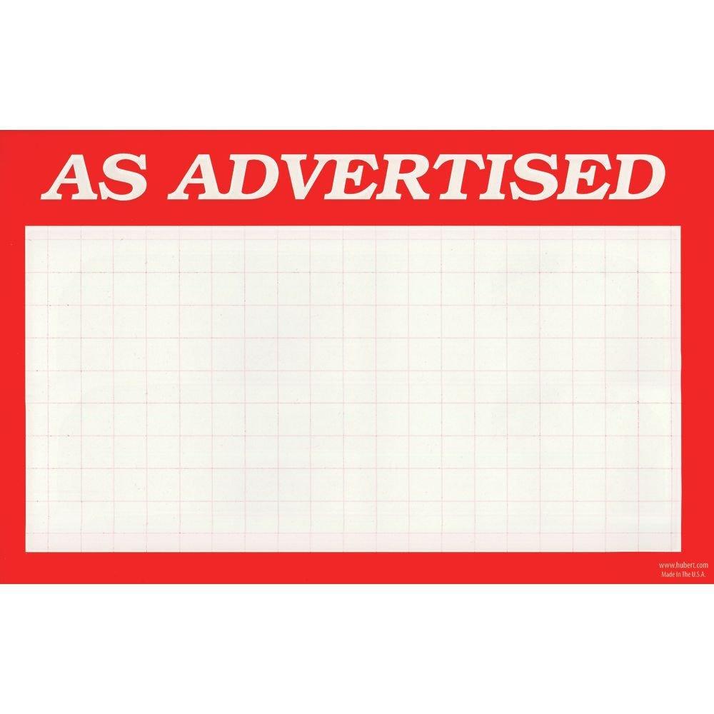 Amazon.com: As Advertised Signs Tarjetas de precio con ...