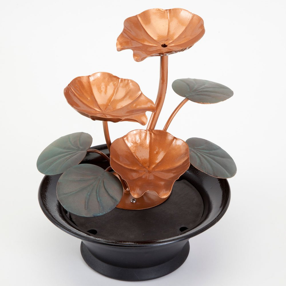 Amazon.com: Bits and Pieces - Indoor Water Lily Water Fountain ...