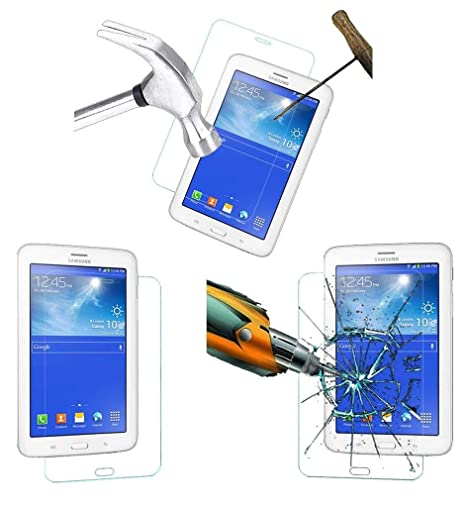 Acm Tempered Glass Screenguard For Samsung Tab 3 Neo T111 Tablet Screen Guard Scratch Protector Touch Screen Tablet Screen Protectors