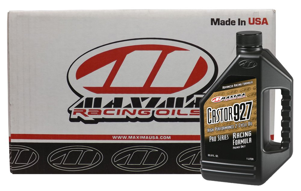 Maxima CS23901-12PK Castor 927 2-Stroke Racing Premix Engine Oil - 1 Liter Bottle, (Case of 12) by Maxima