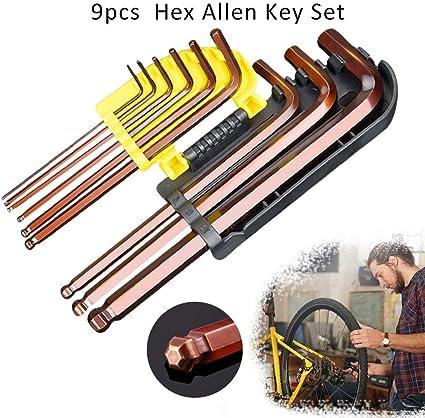 Rvest Juego de Llaves Allen de Mountain Bike – Juego de reparación ...