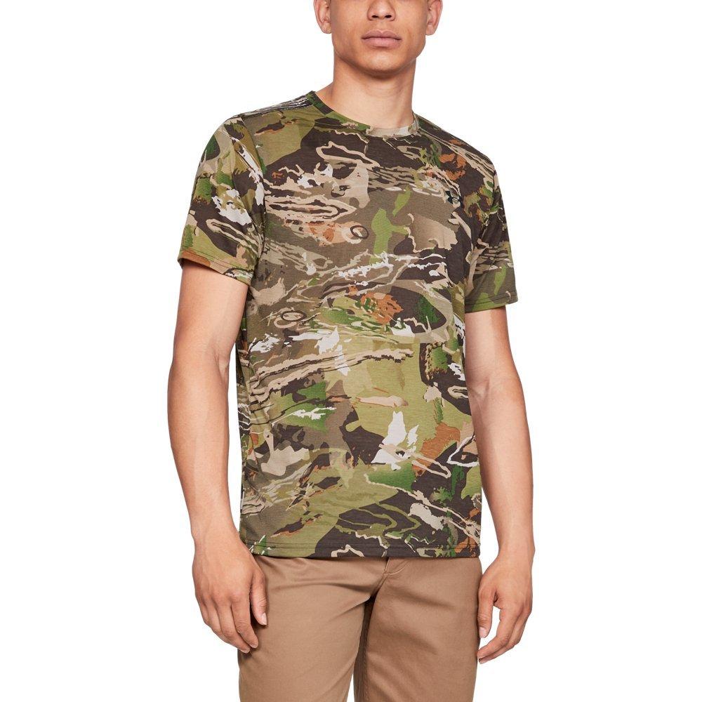 Under Armour Men's Threadborne Camo Shorts sleeve T-Shirt, Ua Forest Camo (940)/Black, XX-Large by Under Armour