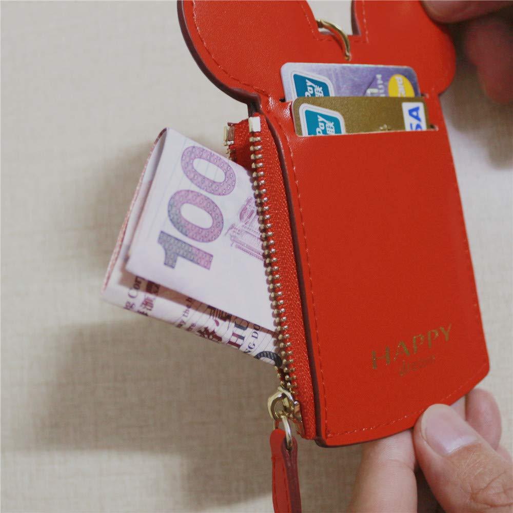 Noir Forme Animale Mignon pour Les Femmes TNEW Pochette Tour De Cou Neck Pouch Titulaire de la Carte Protection Contre Wallet Purse Neck Bag Documents de Voyage