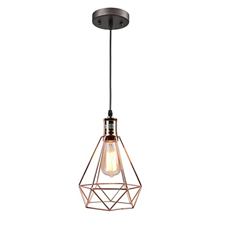 Pauwer Wire Pendant Lighting Industrial Vintage Edison Hanging Lamp ...