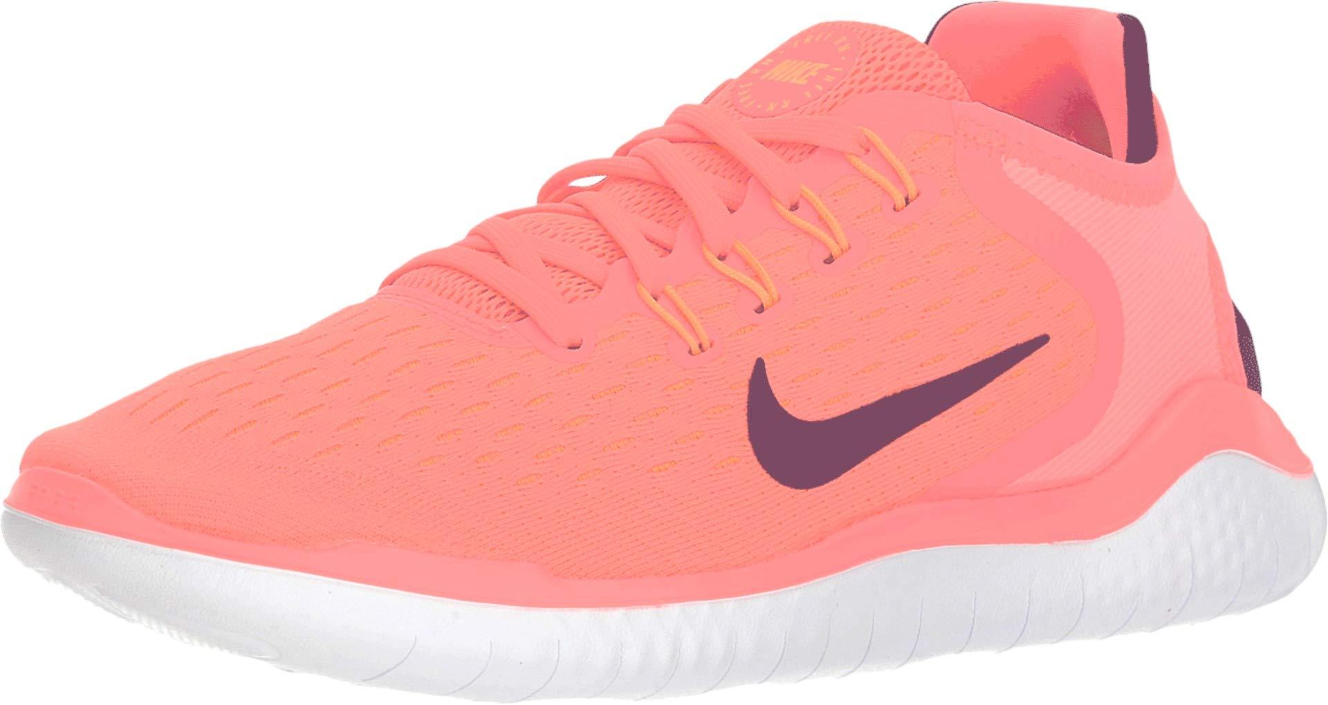 f320cd69a88af Nike Women's Free RN 2018 Running Shoe (7.5 M US, Flash Crimson/Black  Orange Peel White)