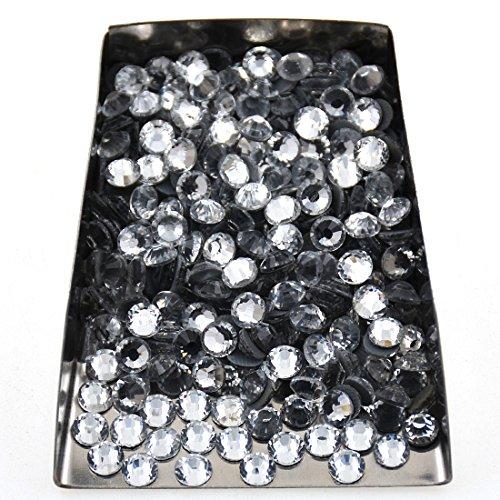 144pcs Hotfix Quality Crystal Rhinestones Flatback Nail Art Pick Color (Crystal, 40ss 144pcs)