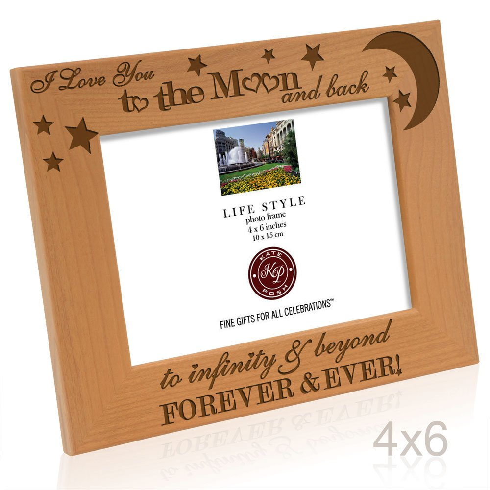 Amazon kate posh i love you to the moon and back to amazon kate posh i love you to the moon and back to infinity beyond forever ever engraved solid wood picture frame 4x6 horizontal jeuxipadfo Image collections