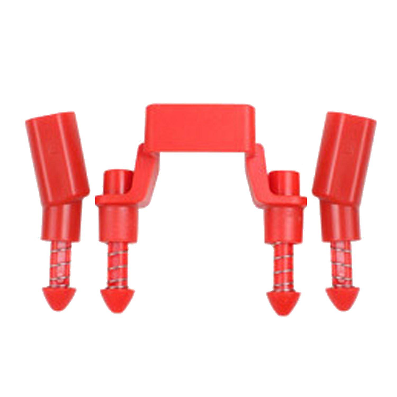 Elisona-Shock-absorbing Landing Gear Stabilizers Leg Gimbal Protector Height Extender Riser Set for DJI MAVIC PRO Grey