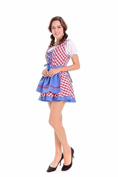 Mujeres Sexy Vocole Oktoberfest alemana trajes uniforme sirvienta francesa cerveza bávara de niña traje de fiesta
