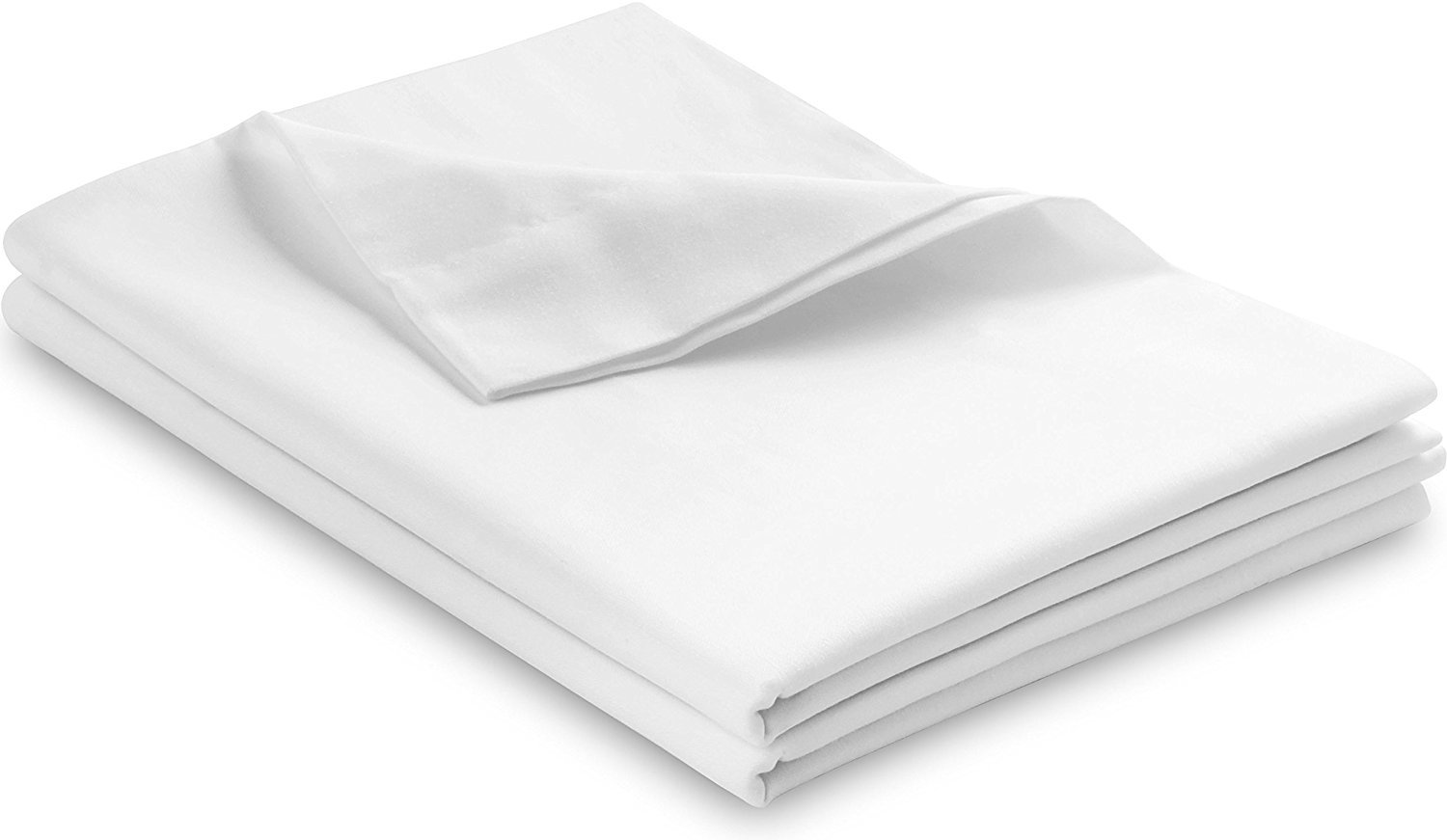 L'Cozee 100% Egyptian Cotton, 340 Thread Count, Pillow Cases – Pillow Cover, Pillow Protector set of 2, Standard - Queen Size - 20 x 28 , White Color