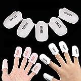 G2Plus - Capuchones para uñas, 10 unidades, para eliminar el esmalte de uñas acrílico
