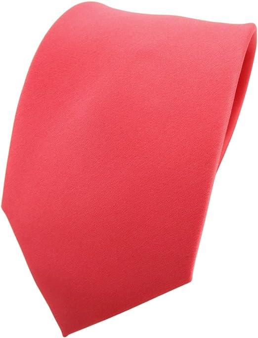 TigerTie cravate en rouge ros/é saumon rouge unicolor 100/% Polyester Tie