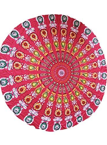 New pavone stampa Red boho Beach Blanket Swimsuit Swimwear Summer Wear taglia unica