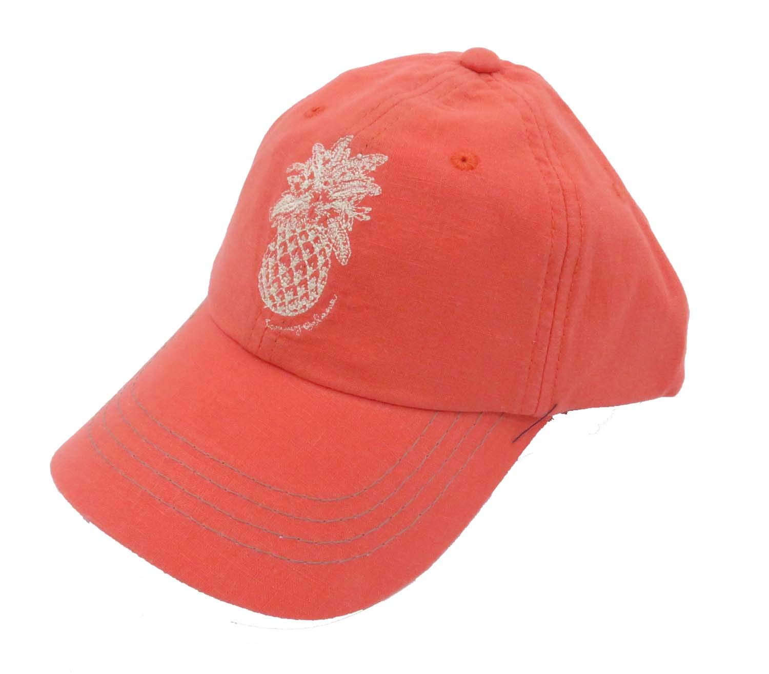 Tommy Bahama Men's Pineapple Orange Linen Blend Cap by Tommy Bahama (Image #1)